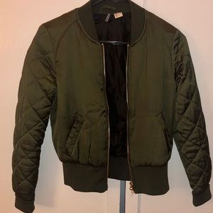 H&M Jackets & Coats - Cute Green jacket !